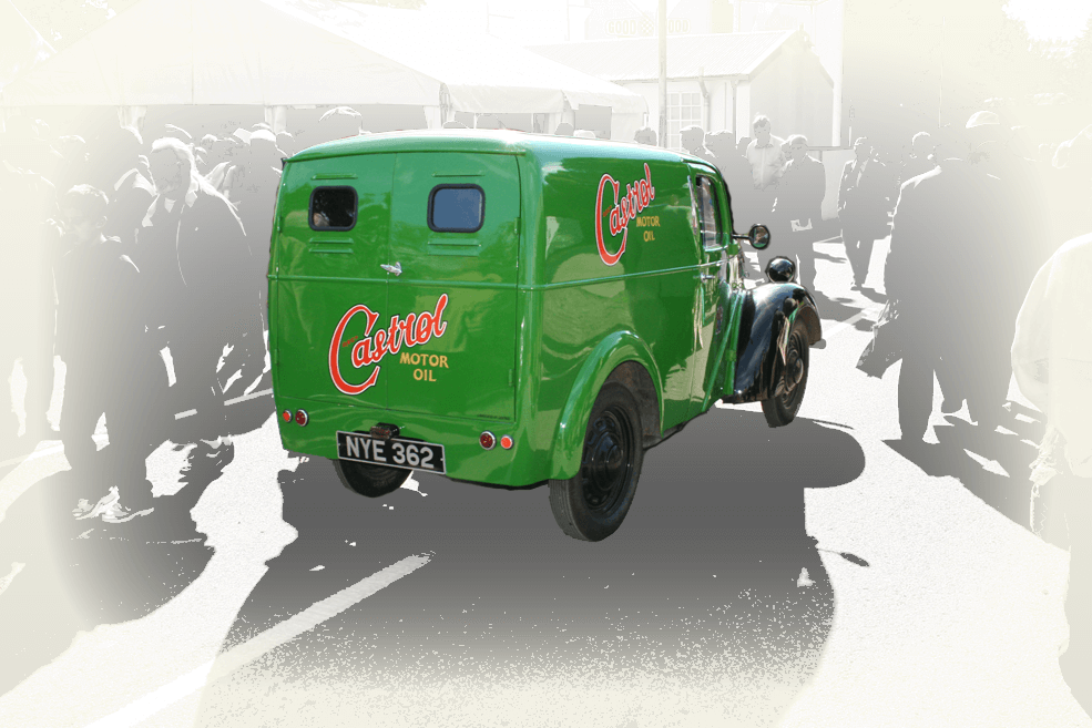 Classic Castrol oil delivery piegāde shell mobil